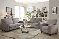 Gray Linen Sofa + Loveseat + Chair Set *FREE DELIVERY in Miramar, California