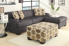 New Ash Black Linen Loveseat or Sofa Sectional FREE DELIVERY in Miramar, California