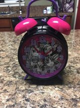 Monster High Twin Bell Alarm Clock, Great Condition! in Plainfield, Illinois