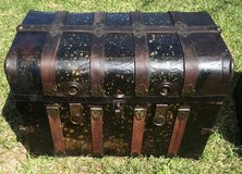 Antique Humpback Trunk  1905 - 1920 in Camp Lejeune, North Carolina