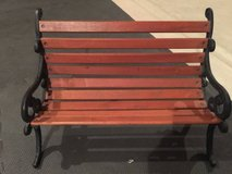 Vintage Doll Bench Cast Iron Wood, Great Condition! in Sugar Grove, Illinois