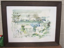 Alfred Birdsey original watercolor in Bartlett, Illinois