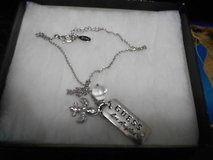 Silver Tone GUESS Charm Necklace in Houston, Texas