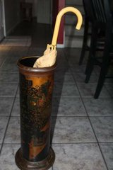 Brass and Metal Umbrella Stand in Kingwood, Texas