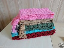New Handmade knitted women's scarf turquoise  100% wool - warm fashion in Plainfield, Illinois