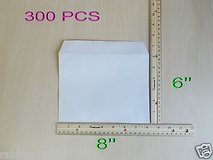 New lot of 300 pcs business envelopes 8'' x 6'' , white , rectangle in Lockport, Illinois