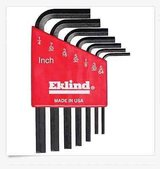 New eklind hex-l 7 keys new (1/4, 7/32, 3/16, 5/32, 1/8, 3/32, 5/64) holder included in Naperville, Illinois