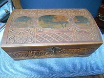 """Antique Hand Carved Wooden Jewelry / Trinket / Note Box!  10' x 6"""" x 3"""" in Houston, Texas"""