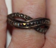 Sterling Silver Braided Ring with Rhinestones, NWT, Sz 8 in Bolingbrook, Illinois