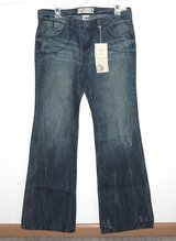 New w.Tags $50 ~ Inked & Faded Fashion Flare Jeans Womens 6 32 x 33 Long Tall Flap Pocket in Morris, Illinois