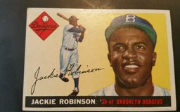 "original 1955 topps ""jackie robinson"" #50 old rare vintage baseball card in Macon, Georgia"