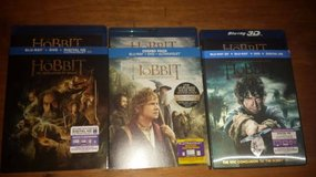 All 3 The Hobbit Blue Ray DVDs in Warner Robins, Georgia