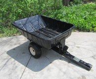 EZ DUMP UTILITY CART TRAILER, 8 Cubic Ft Plastic Tub, for Riding Mower in Brookfield, Wisconsin