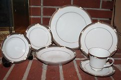 Nortiake Porcelain China Ellington 3691 7-Piece Place Settings, 5 Sets - EUC! 35Pieces Total in Joliet, Illinois