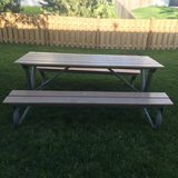 Picnic Table, Heavy Duty Commercial, Steel Frame, Great Condition! in Sugar Grove, Illinois