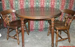 """Wood Table and Chairs  $65 """"The Back Forty"""", Adel in Moody AFB, Georgia"""