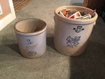 Antique Vintage Western and Red Wing Union Stoneware 2 & 5 Gallon in St. Charles, Illinois