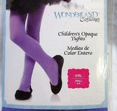 wonderland's costumes girl's tights purple small hose opaque children's in Kingwood, Texas