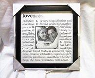 love definition heart husband wife frame 3.5x3.5 9x9 boyfriend girlfriend in Houston, Texas