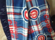 chicago cubs fleece satin edge baby blanket 36x 30*new* in Yorkville, Illinois