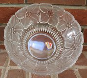 Heavy Genuine Lead Crystal Floral 8 in Bowl, Made in Western Germany, 4 in Tall in Joliet, Illinois