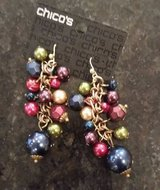 Chicos Earrings - Multi Color Beads - new w/ original packaging in Wheaton, Illinois