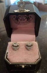 Juicy Couture Heart and Rhinestone Earrings - Posts - In original box in Orland Park, Illinois