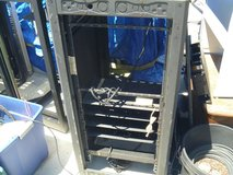 short server rack cabinet black powder-coating with 16 grounded outlets 80054 in Huntington Beach, California