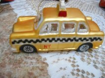 Yellow Checkered TAXI Glass Ornament!  NY  2007    Great condition! in Houston, Texas