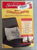 NEW sunbeam 300-000 back contouring heating pad with lumbar support new  * in Houston, Texas