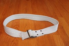 Men's Tan Canvas Belt, Metal D-Ring Buckle, Sz 26 in Glendale Heights, Illinois