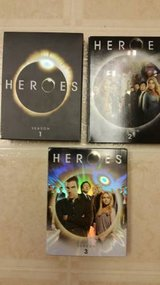 Heroes season 1-3 DVD videos in Camp Pendleton, California