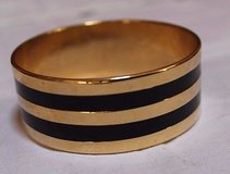 Vintage Gold & Black 1-inch Bangle Bracelet, Heavier, 2.5-inch Diameter, EUC in Bolingbrook, Illinois
