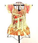 F.A.N.G Boho Lace Love Peace Rose Heart Neck Tie Top Small One World S in Morris, Illinois