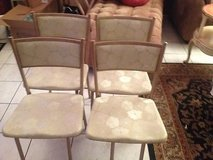 antique/vintage hamilton metal round folding table and chairs set by cosco in Kingwood, Texas