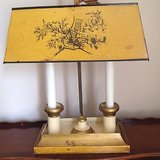 Vintage  Marked Bouillotte Italian Lamp Metal Shade Souillotte Desk Lamp in Kingwood, Texas