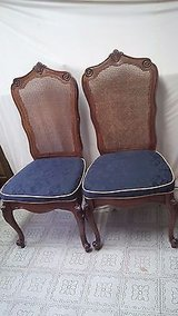 vintage cane back chairs fabric seat chairs dinning/side chairs/ cane chairs in Kingwood, Texas