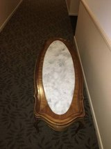 Mom's Estate Sale - Vintage French Provincial Marble Top Coffee Table in Naperville, Illinois
