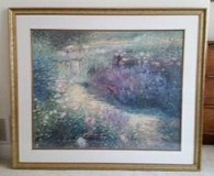 Picture - Framed Garden Scene - Large Picture in Glendale Heights, Illinois