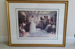 Picture - Gold Framed Wedding Scene - From Bombay and Co. in Bolingbrook, Illinois