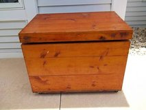 Huge Wooden Storage Chest/Trunk - ON WHEELS! in Brookfield, Wisconsin