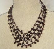 nwt express multi strand red wine maroon statement necklace pendant chain bead in Kingwood, Texas