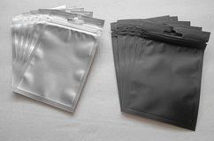 Hanging Black/Clear Foil Pouches, Mylar Ziplock Bags, Smell Proof in Davis-Monthan AFB, Arizona