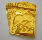 Gold Vertical Foil Pouches, Mylar Ziplock Bags, Smell Proof Packaging in Davis-Monthan AFB, Arizona