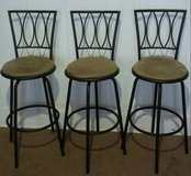 Set of 3 Swivel Barstools in Fort Lewis, Washington