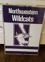 Northwestern Wildcats Sign \ Picture - Framed in Glendale Heights, Illinois