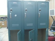 euc vintage lyon lockers nine per side with two master keys and combos 80068 in Huntington Beach, California