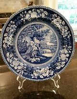 Blue and White Plate - Transferware in Chicago, Illinois