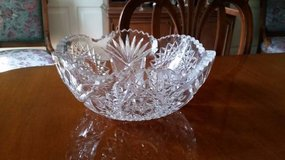 "Crystal Bowl - Cut Glass - 9""diameter in Chicago, Illinois"