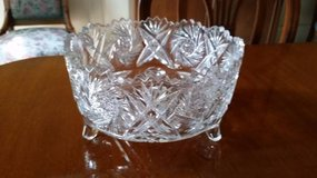 Crystal Bowl - Cut Glass - Footed in Aurora, Illinois